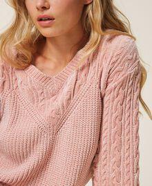Jersey de chenilla con ochos Rosa «Peach Powder» Mujer 202LL3GSS-05
