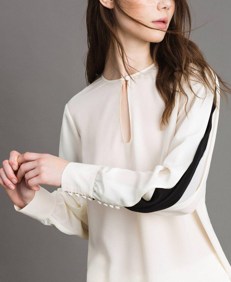 Bluse aus Seidenmischung Weiß Schnee Frau 191TP2141-02