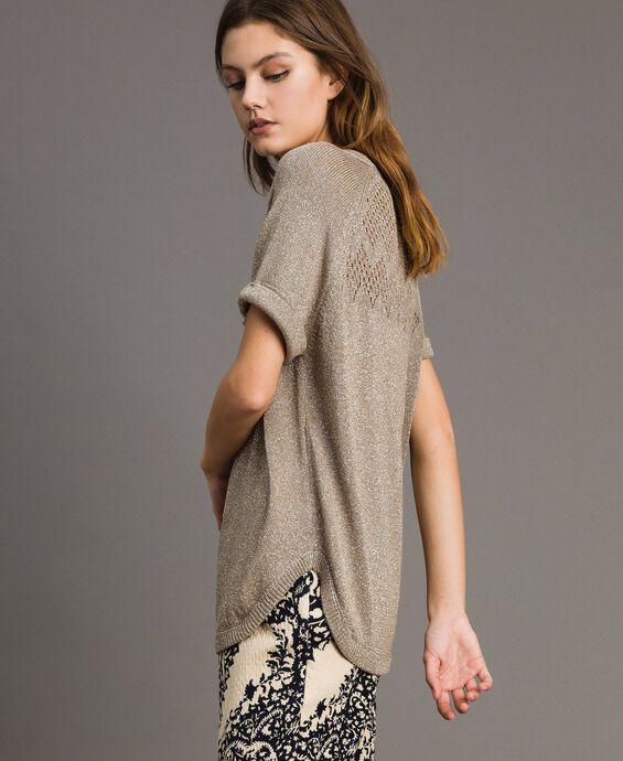 Pullover aus Lurex mit Durchbruchmuster