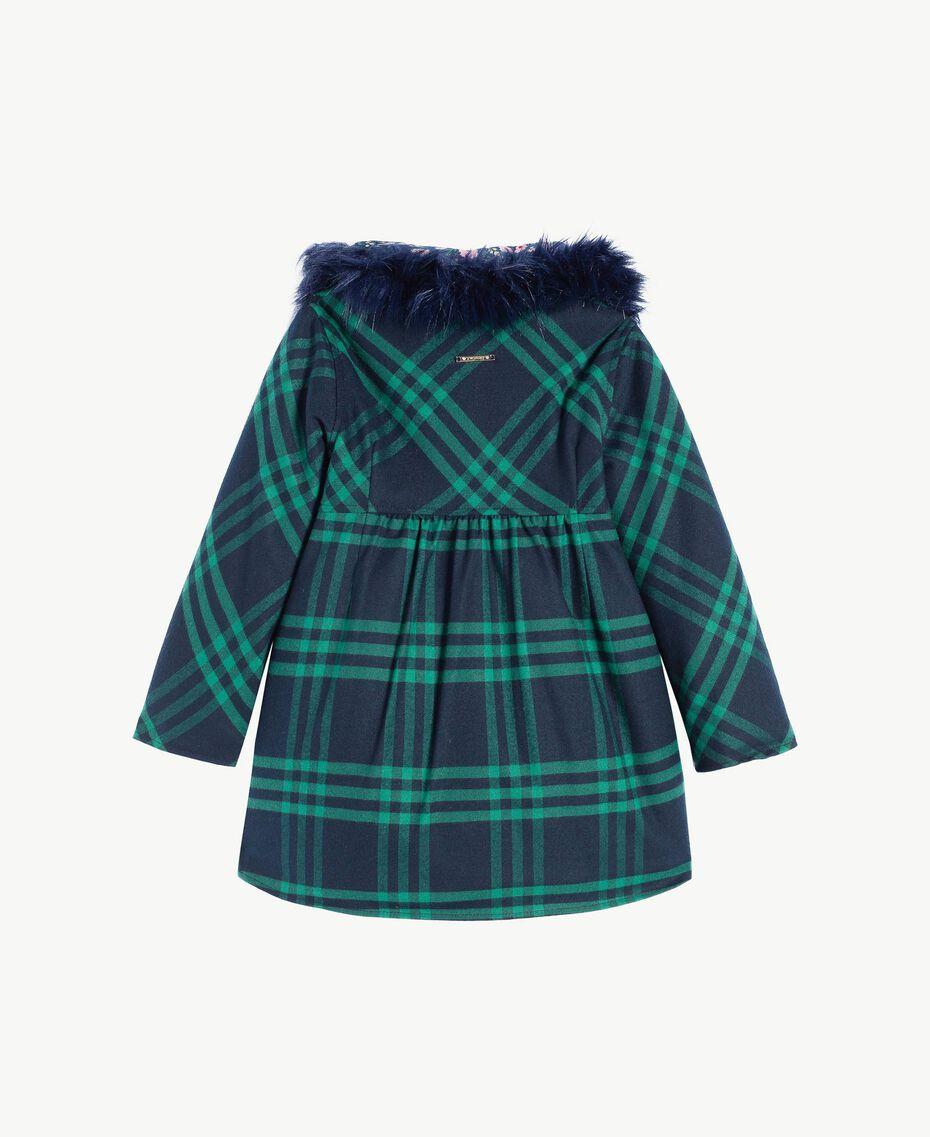 Cappotto check Blue Night / English Green Femmina FA72BA-02