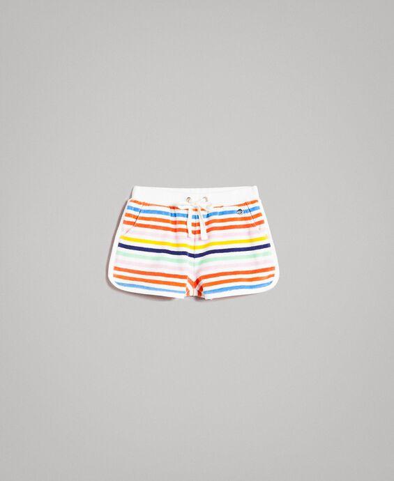 Short à rayures multicolores