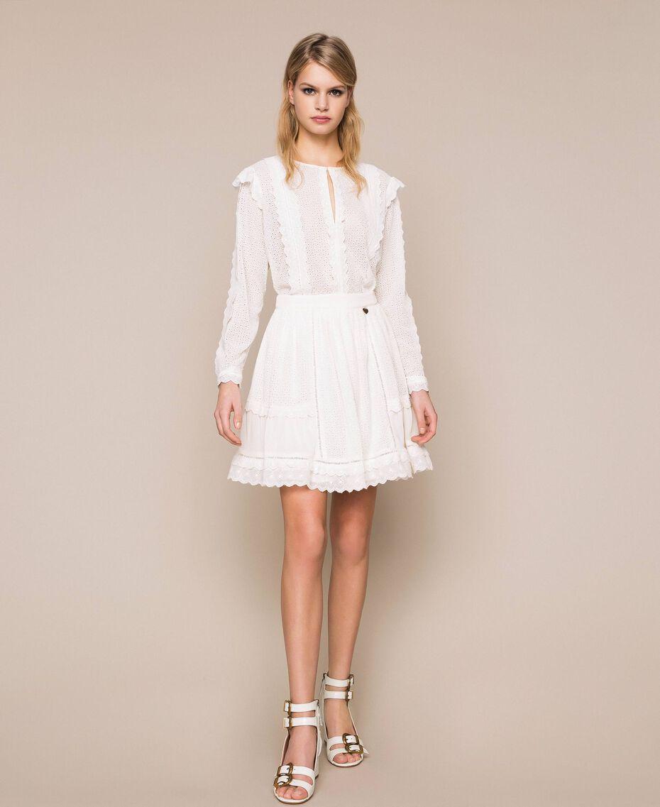 Broderie anglaise full skirt White Snow Woman 201TP2494-01