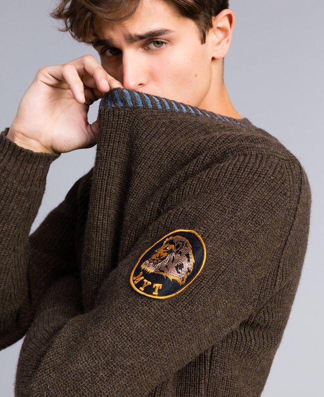 Wool blend jumper Alpine Green Man UA83DA-05