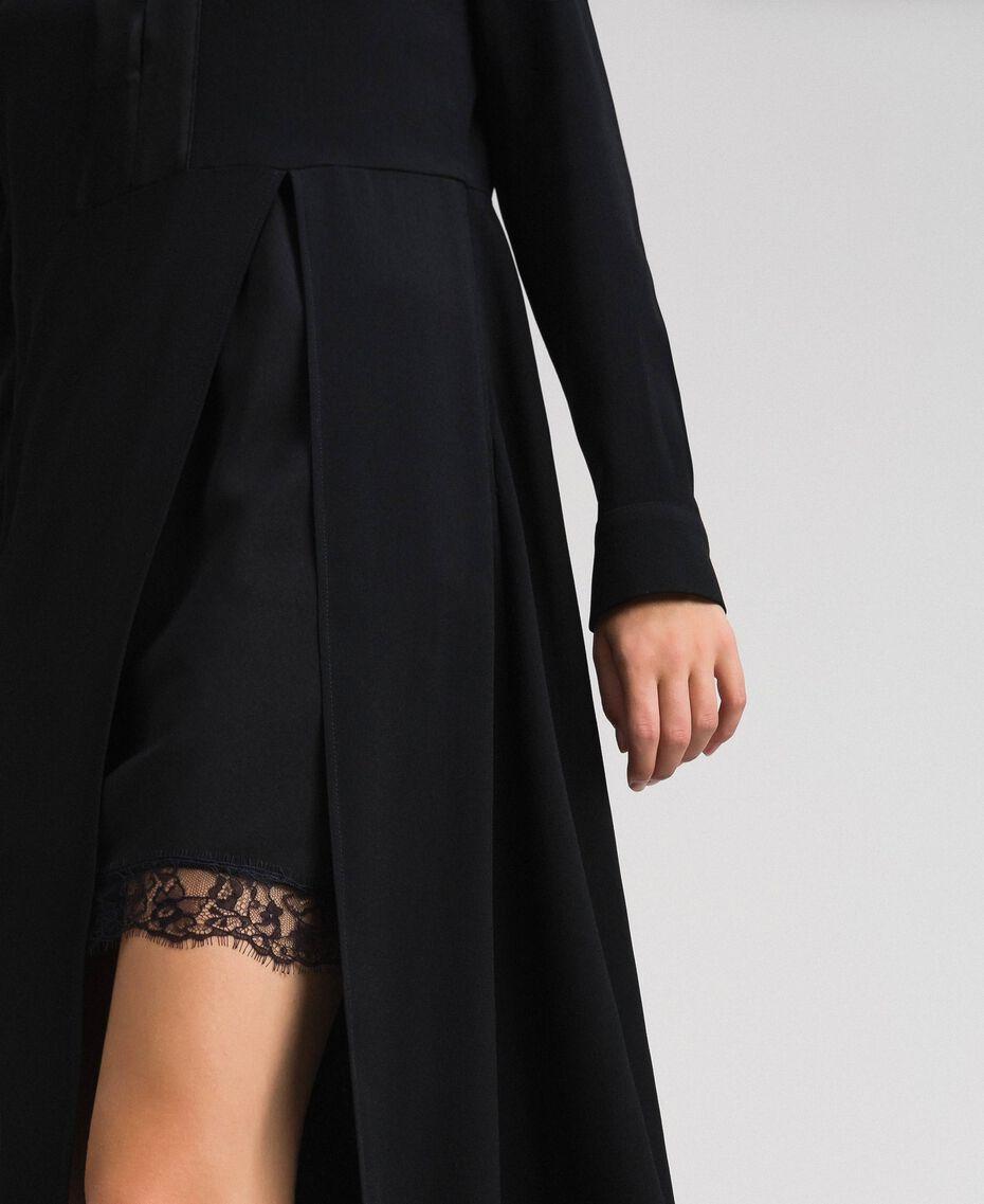 Midi dress with slip Black Woman 192TT229C-05