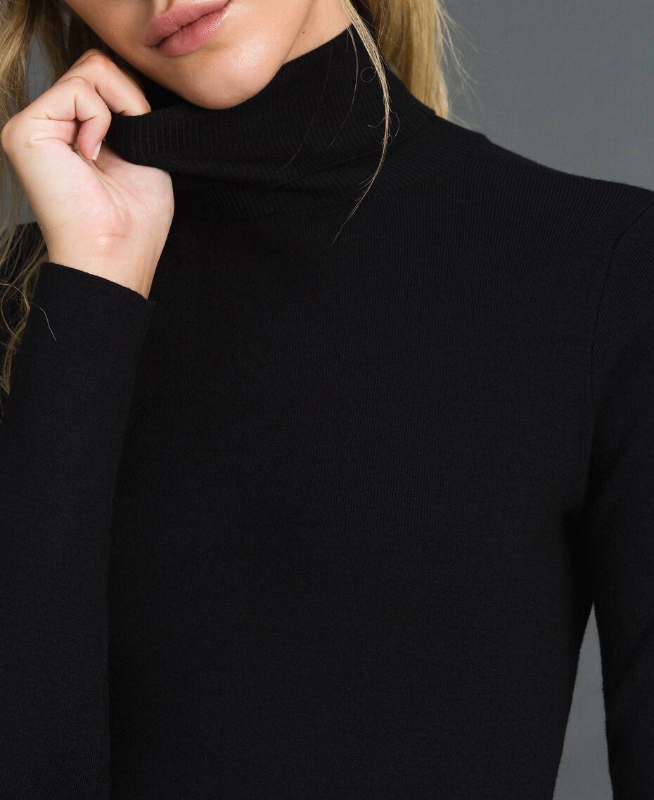 Knit turtleneck Black Woman 192MT3015-01