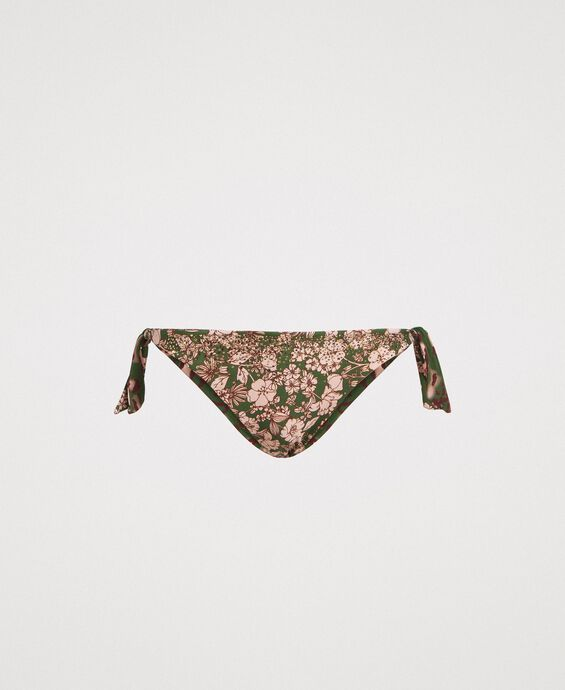 Bikinitanga mit Blumen und Nieten