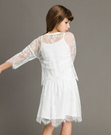 Jersey dress and lace blouse Off White Child 191GJ2740-03