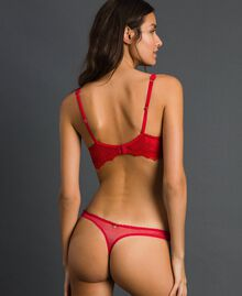 Lace and tulle G-string Burning Red Woman 192LL6C88-03