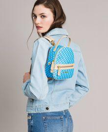 Butterfly print mini backpack Mikonos Light Blue Butterflies Print Woman 191TA7176-0S