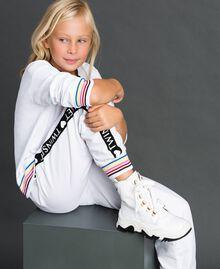 Sneakers alte in pelle con allacciatura trekking Bianco Bambina 192GCJ022-0S