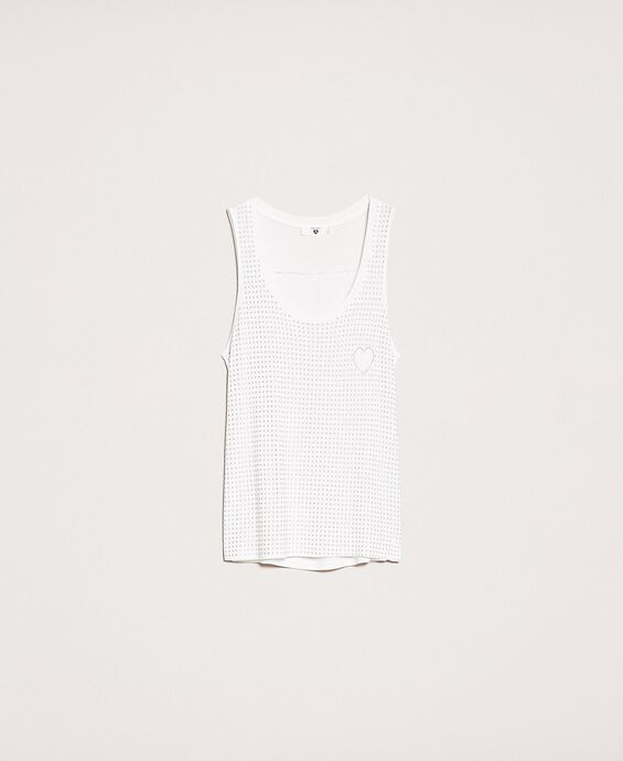 Tank top with all over studs