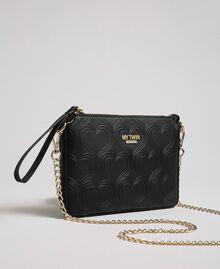 Heart print shoulder bag Black Woman 192MA7014-01