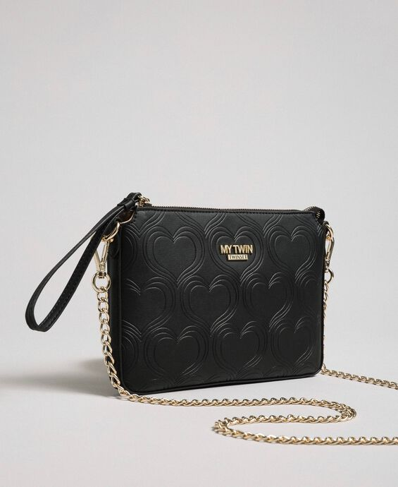 Heart print shoulder bag