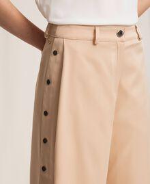 Pantalon cropped avec boutons Beige «Golden Powder» Femme 201LL2CPP-04