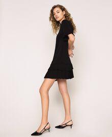 Платье из жоржета с плиссировкой Черный женщина 201TP2026-01
