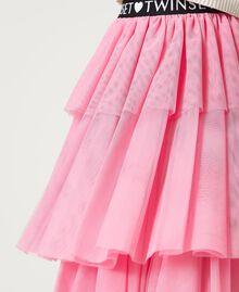 """Long tulle skirt """"Rose Bloom"""" Pink Child 211GJ2271-05"""