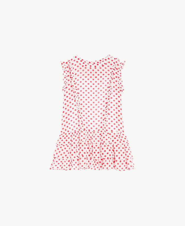 """Top pois Stampa Pois Bianco """"Papers"""" / Rosso Melograno Bambina GS82PQ-01"""