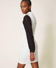 Sheath dress with lace Parchment White Woman 202TT2280-04