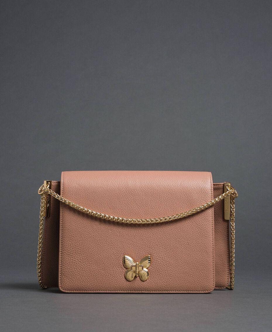 Large BEA leather shoulder bag Mousse Pink Woman 192TA7020-02