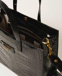Bolso shopper Twinset Bag mediano de piel Estampado Coco Negro Mujer 202TB7113-05