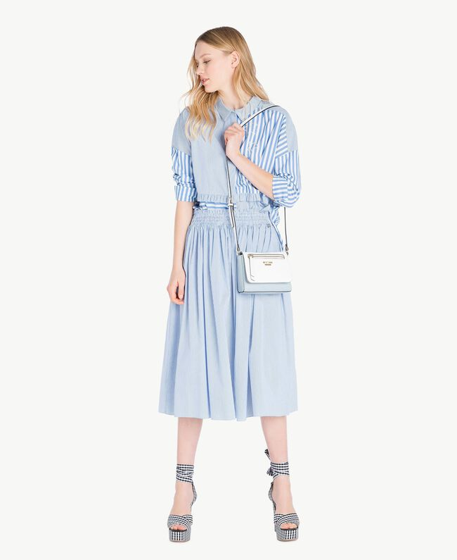 Mid-length skirt Multicolour Topaz Light Blue Pin Stripes Woman JS82DT-05