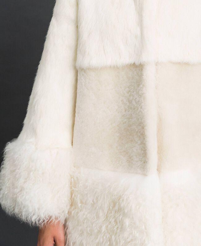 Mixed fur coat White Snow Woman 192TT2390-04