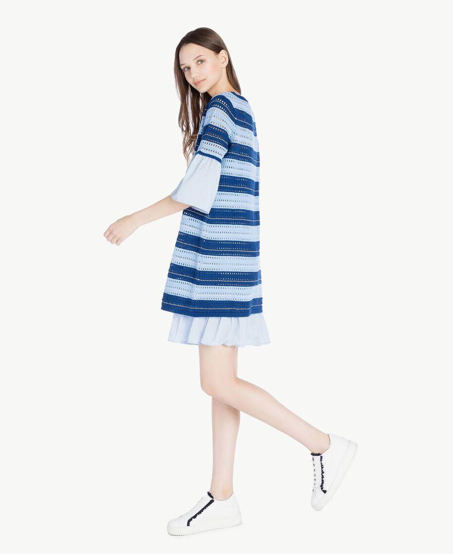 "Crochet dress Multicolour ""Navy Peony"" Blue / Placid Blue/ ""Rope"" Beige Woman SS83AB-02"