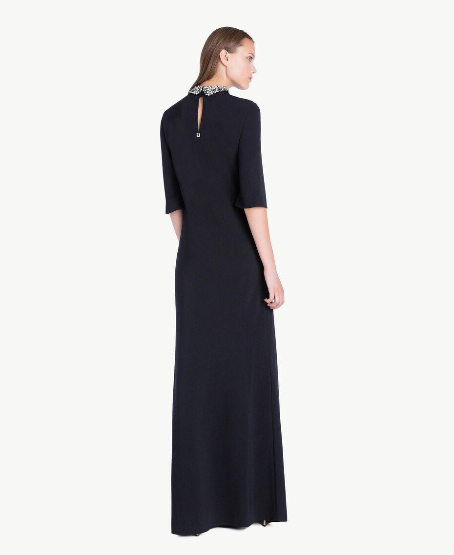 Robe longue broderie Noir Femelle QA7PBP-03