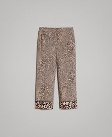 Pantaloni in crêpe animalier Stampa Maculata Mix Donna 191TP2703-0S