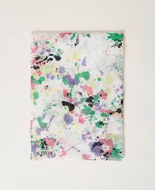 Étole avec imprimé Multicolore Blanc «Cassé Pois» Femme 211MO5364-03