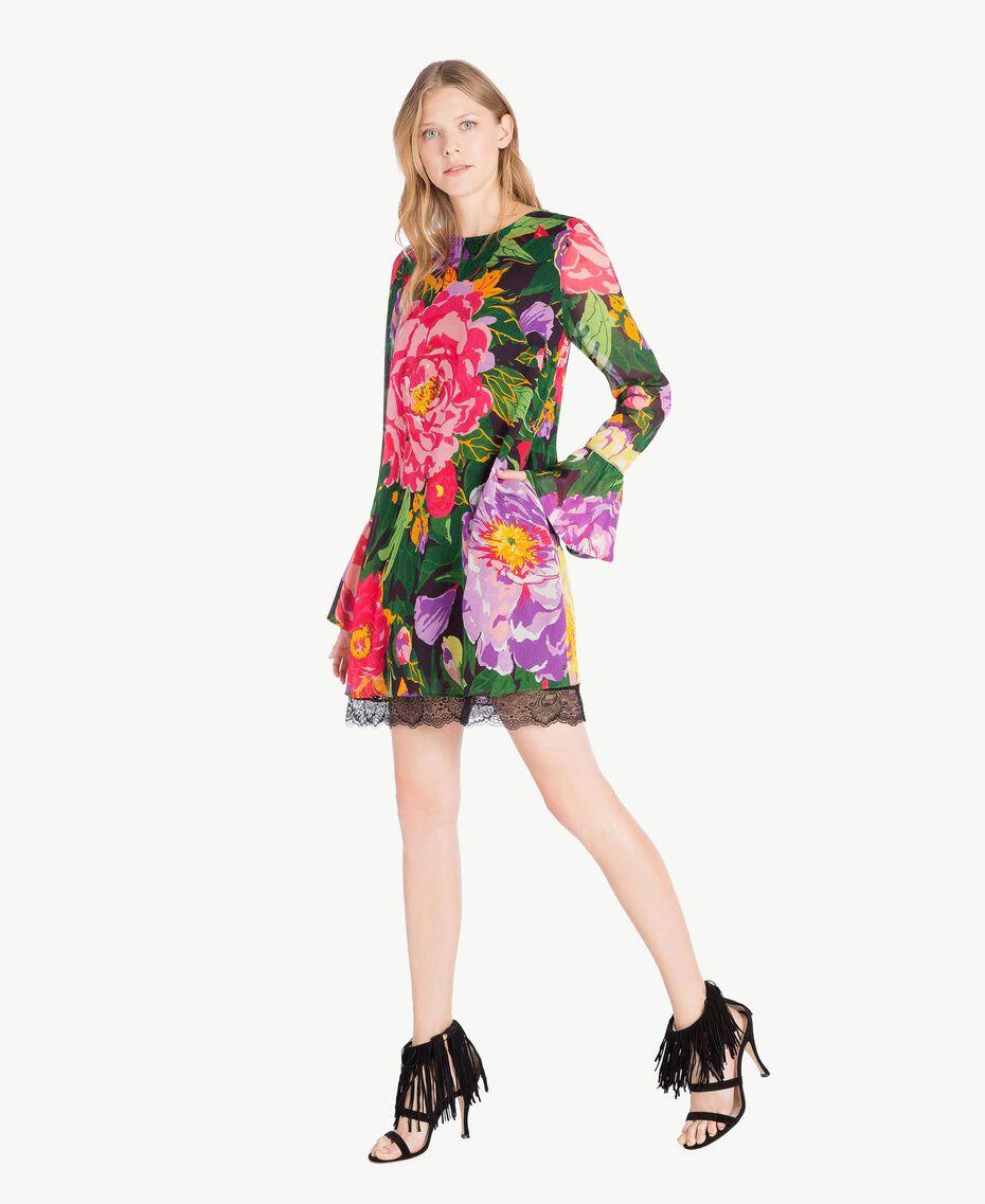 "Kleid mit Print ""Summer Garden""-Print Frau TS8242-02"