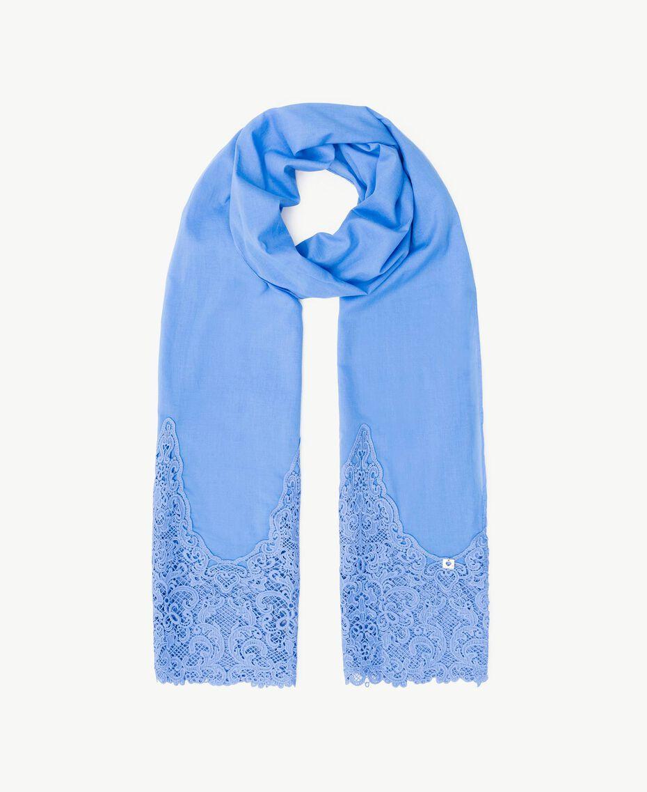 Écharpe guipure Bleu «Gentiane» Femme OS8T27-01