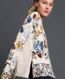 Cardigan avec imprimé floral et chevrons Imprimé Fleurs d'Automne Crème Femme 192ST3221-01