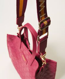 "Mittelgroße Twinset Bag im Shopperformat mit Logo ""Red Plum""-Violett Frau 202TB7161-05"