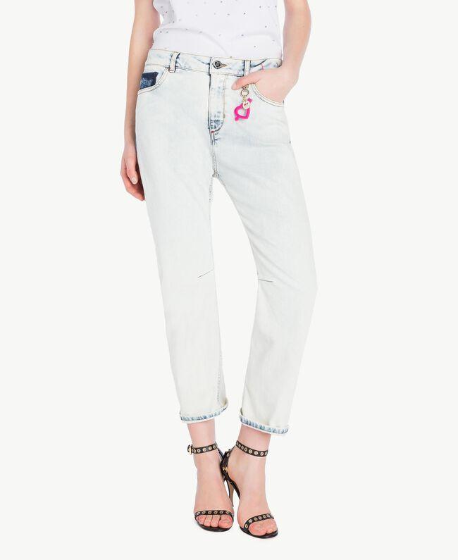 Girlfriend jeans Denim Blue Woman YS82XZ-01