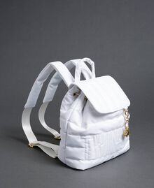Quilted backpack with charms and logo White Snow Woman 192TO8062-02