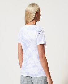 "Regular tie-dye t-shirt ""Lilac Sky"" Purple Woman 211MT2630-03"