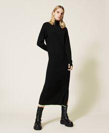 Robe longue côtelée Noir Femme 212AT3104-02