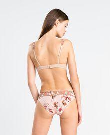 Floral print briefs Ballerina Pink Mixed Flower Print Woman IA8E66-03