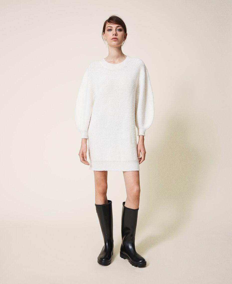 Robe en alpaga mélangé Blanc Crème Femme 202TP3240-01
