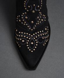 Tronchetti con decoro di borchie Nero Donna 192MCP016-05