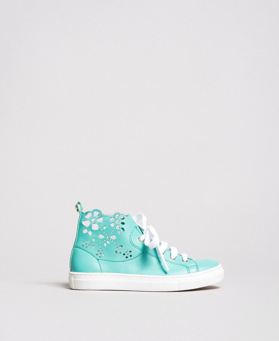Nappa sneakers with perforated detail White Child 191GCJ172-01