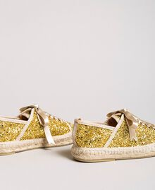 Full glitter espadrilles Gold Yellow Child 191GCJ042-03