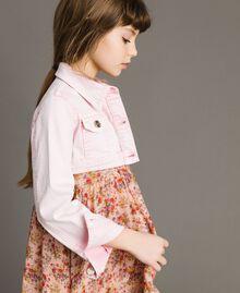 "Bull délavé cropped jacket ""Crystal Pink"" Child 191GJ2492-0S"