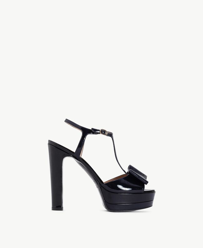 TWINSET Sandalo vernice Blue Black CA7PLW-01