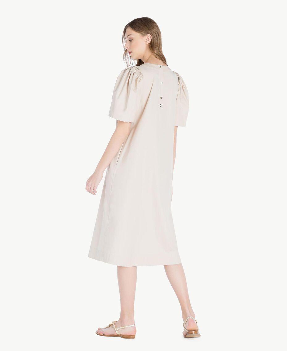 Langes Kleid aus Popeline Dune Frau TS821Q-03
