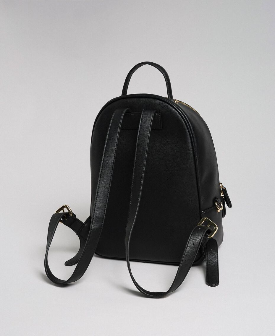 Faux leather backpack Black Woman 192TA7133-03