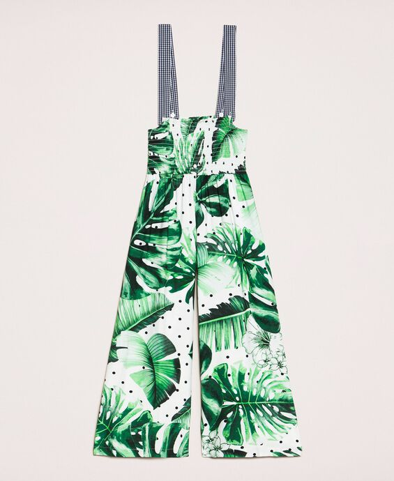 Tropical print jumpsuit/trousers