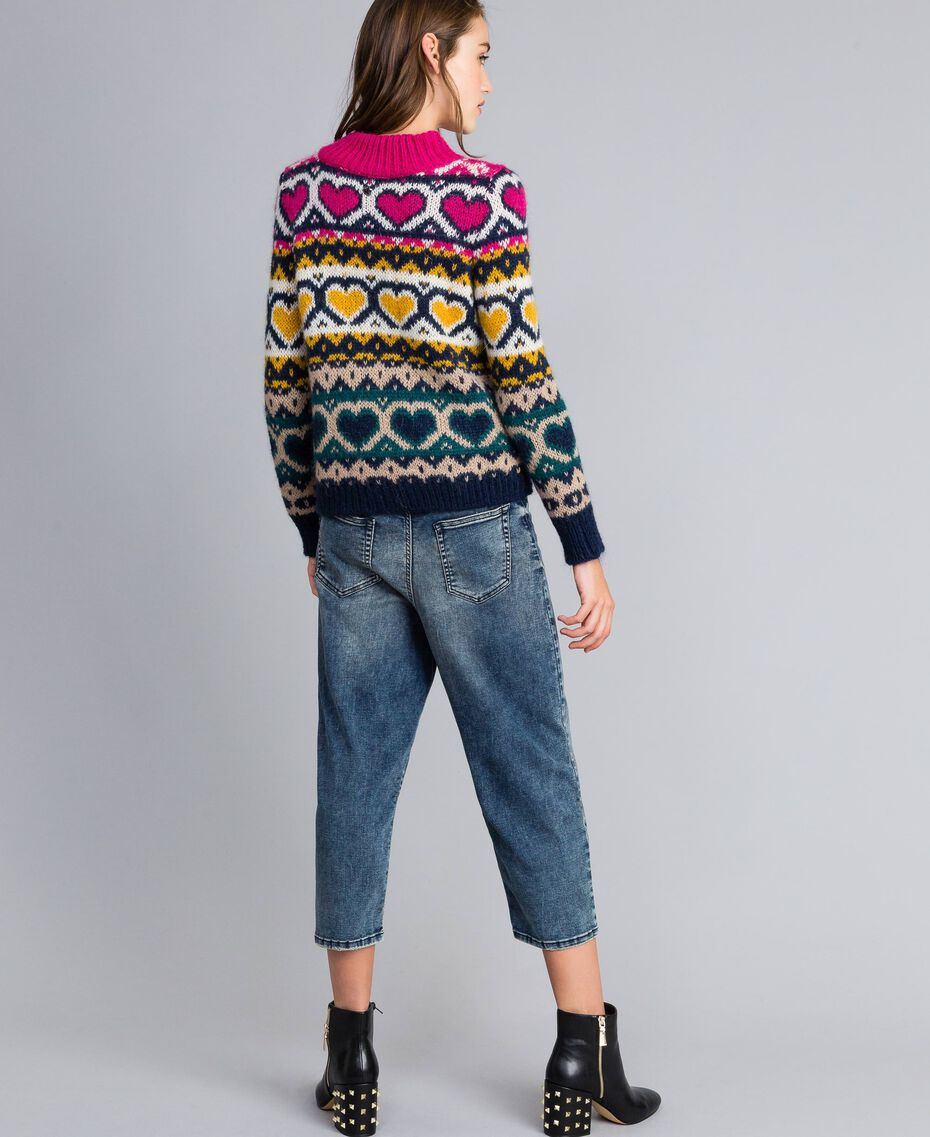 Jeans loose fit in denim soft Denim Blue Donna YA82W1-02
