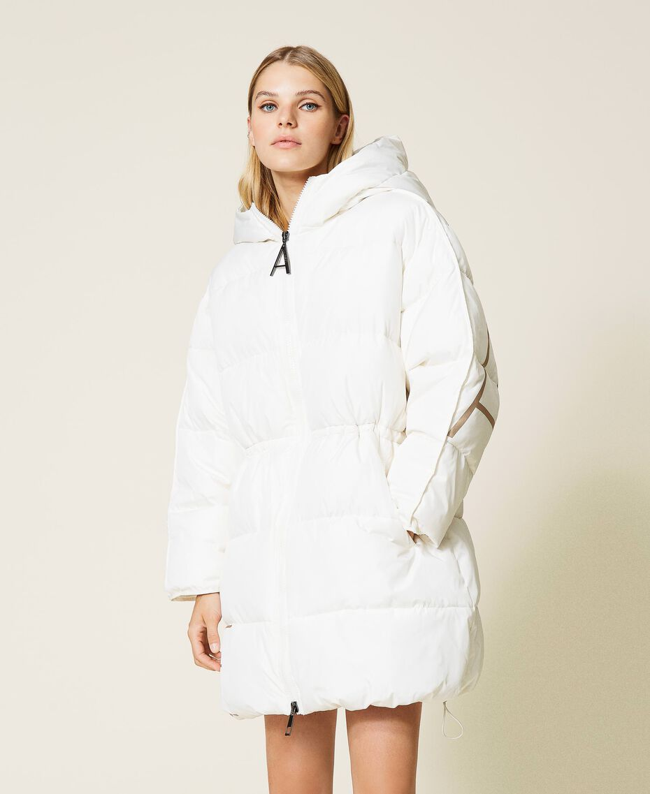 'Alum' puffer jacket with logo print Mother Of Pearl Woman 212AT2040-02
